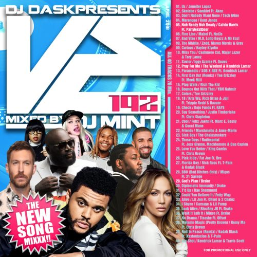 最新リリース曲を厳選&Mix!【洋楽CD・MixCD】DJ Dask Presents VE192 / DJ Mint【M便 2/12】