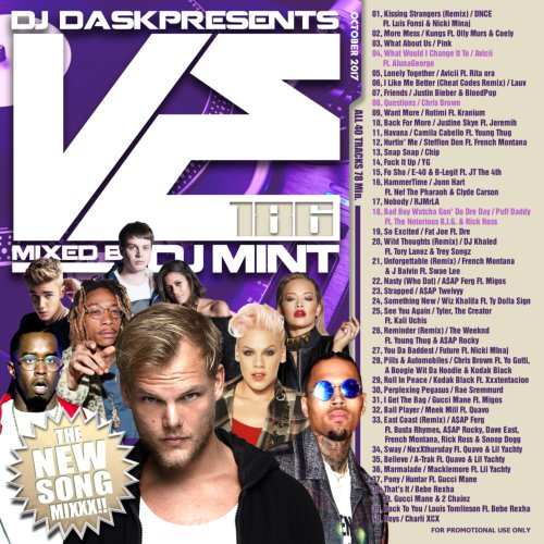 最新リリース曲を厳選&Mix!【洋楽CD・MixCD】DJ Dask Presents VE186 / DJ Mint【M便 2/12】