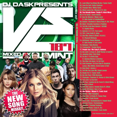 最新リリース曲を厳選&Mix!【洋楽CD・MixCD】DJ Dask Presents VE187 / DJ Mint【M便 2/12】