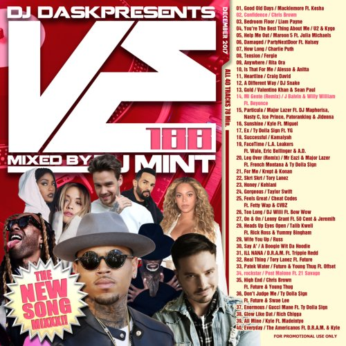 毎月最新リリース曲を厳選&Mix!【洋楽CD・MixCD】DJ Dask Presents VE188 / DJ Mint【M便 2/12】