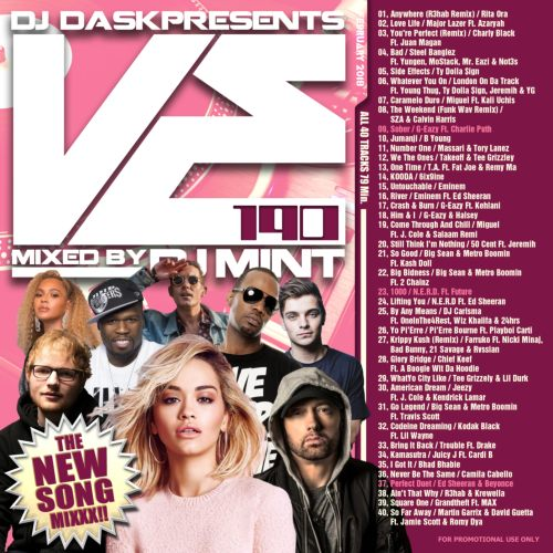 毎月最新リリース曲を厳選&Mix!【洋楽CD・MixCD】DJ Dask Presents VE190 / DJ Mint【M便 2/12】