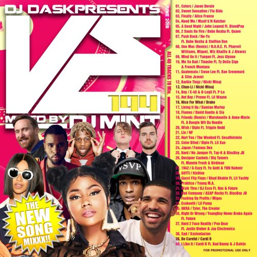 最新リリース曲を厳選&MIX!【洋楽CD・MixCD】DJ Dask Presents VE194 / DJ Mint【M便 2/12】