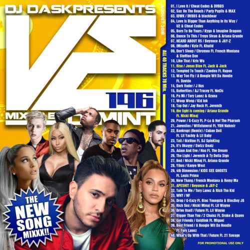 毎月リリース曲を厳選&Mix!【洋楽CD・MixCD】DJ Dask Presents VE196 / DJ Mint【M便 2/12】