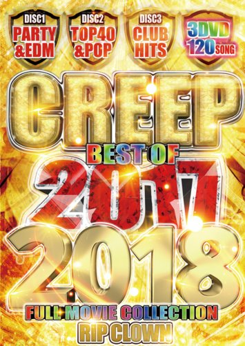 完全フルムービーDVDの元祖!!【洋楽DVD・MixDVD】Creep Best OF 2017-2018 / Rip Clown【M便 6/12】