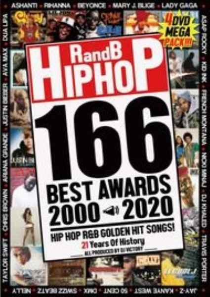 4枚組 ヒップホップ R&B 洋楽PV集 2000年代R and B HIPHOP 166 Best Awards 2000-2020 / DJ Victory